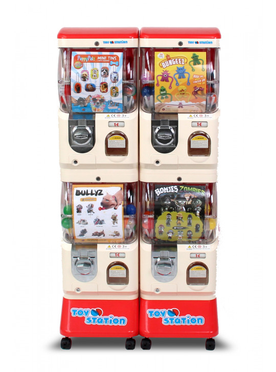 Dobbelt legetøjsautomat